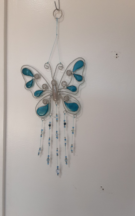 Turquoise Butterfly Sun-Catcher